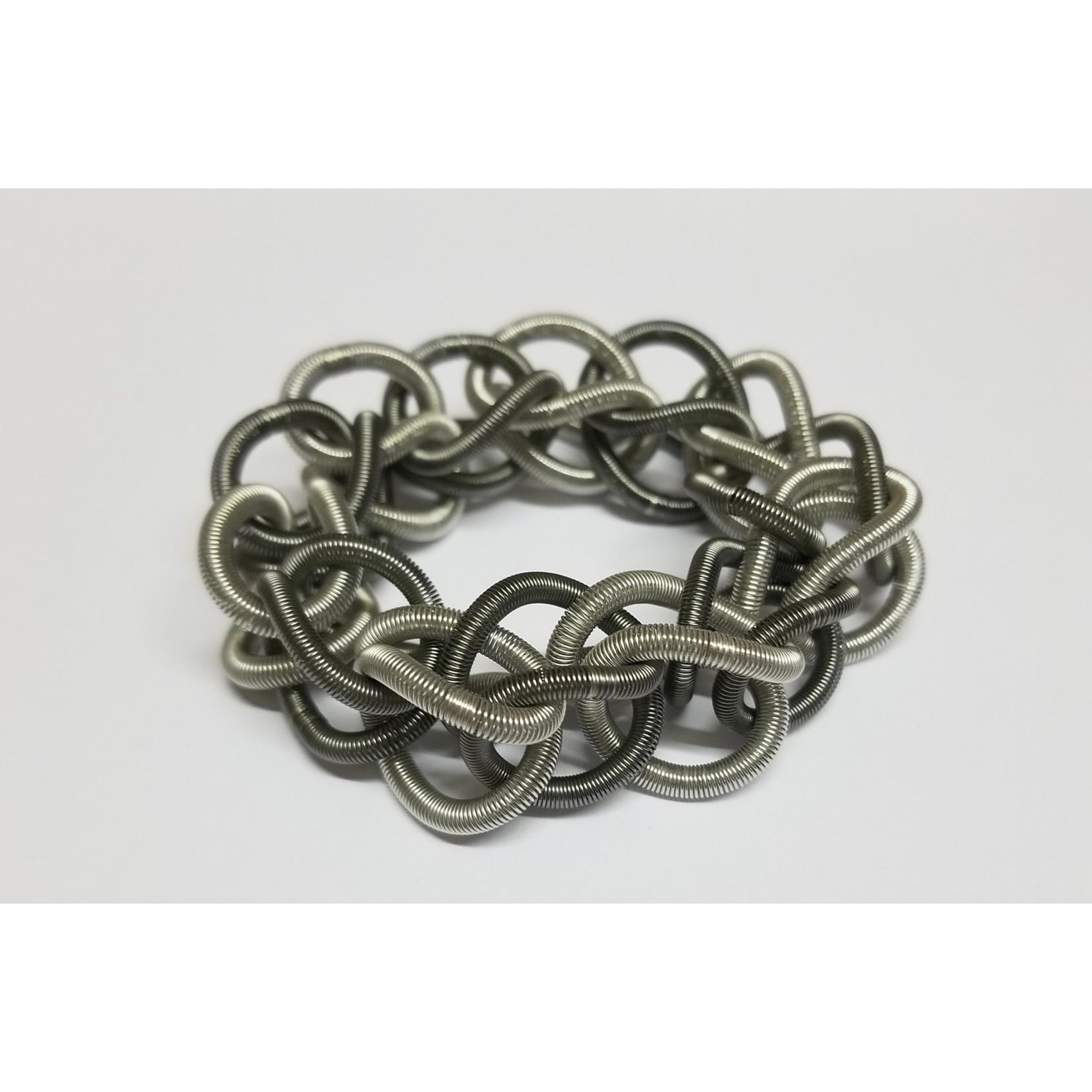 Sea Lily Silver/Slate Chain Link Bracelet