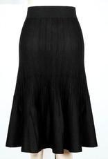 Icelandic Skirt/Adelaide/Black/Long/Ribbed