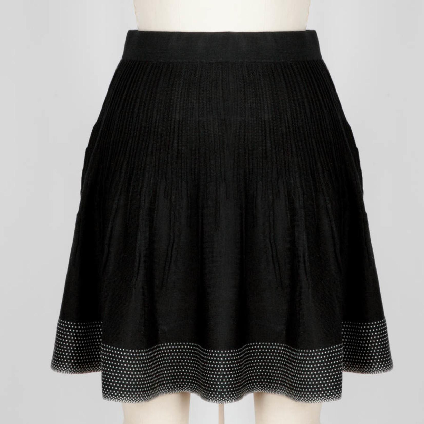 Icelandic Skirt/Dottie/Black/WhiteDotsBottom/Ribbed