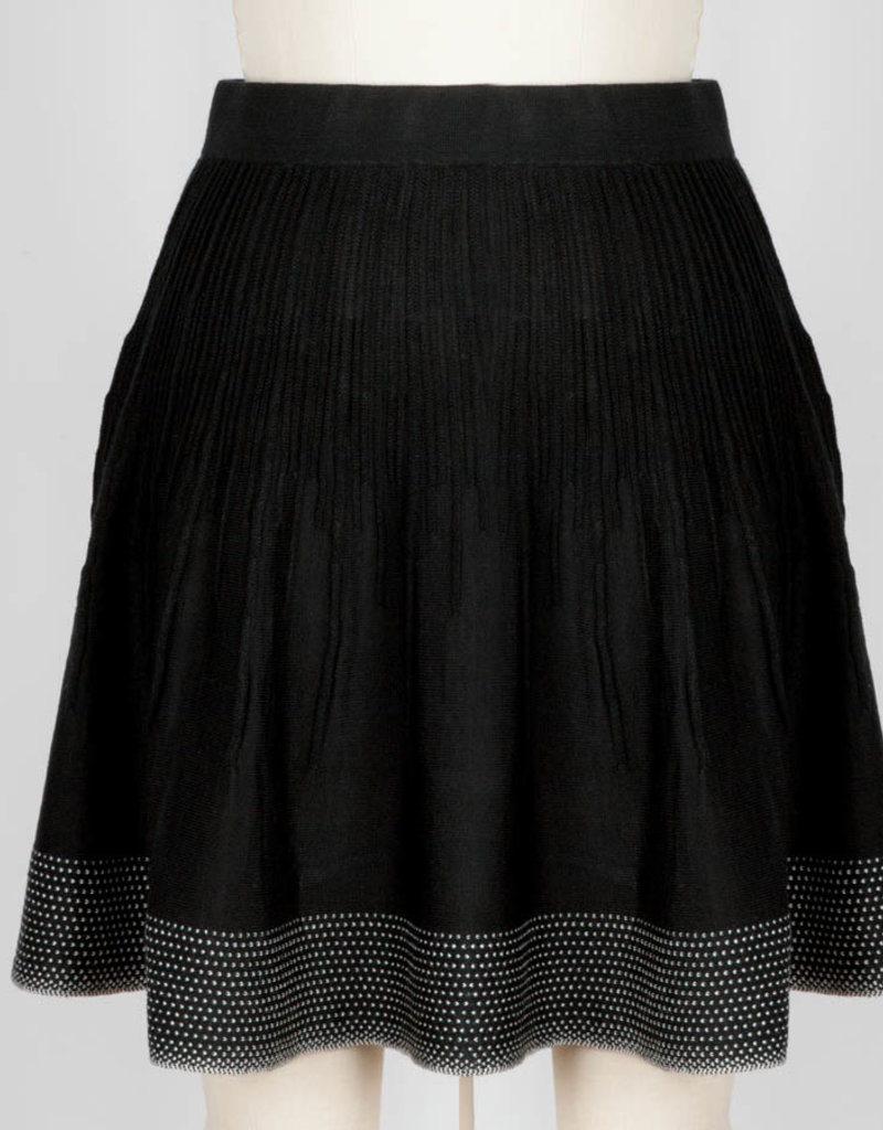 Icelandic Skirt/Dottie/Black/WhiteDotsBottom/Ribbed
