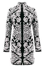 Icelandic Jacket/Fonda/FullZip/Black/WhiteSwirl