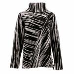 Icelandic Sweater/Classy/Cowl/Black/Gray/SideDrawstring