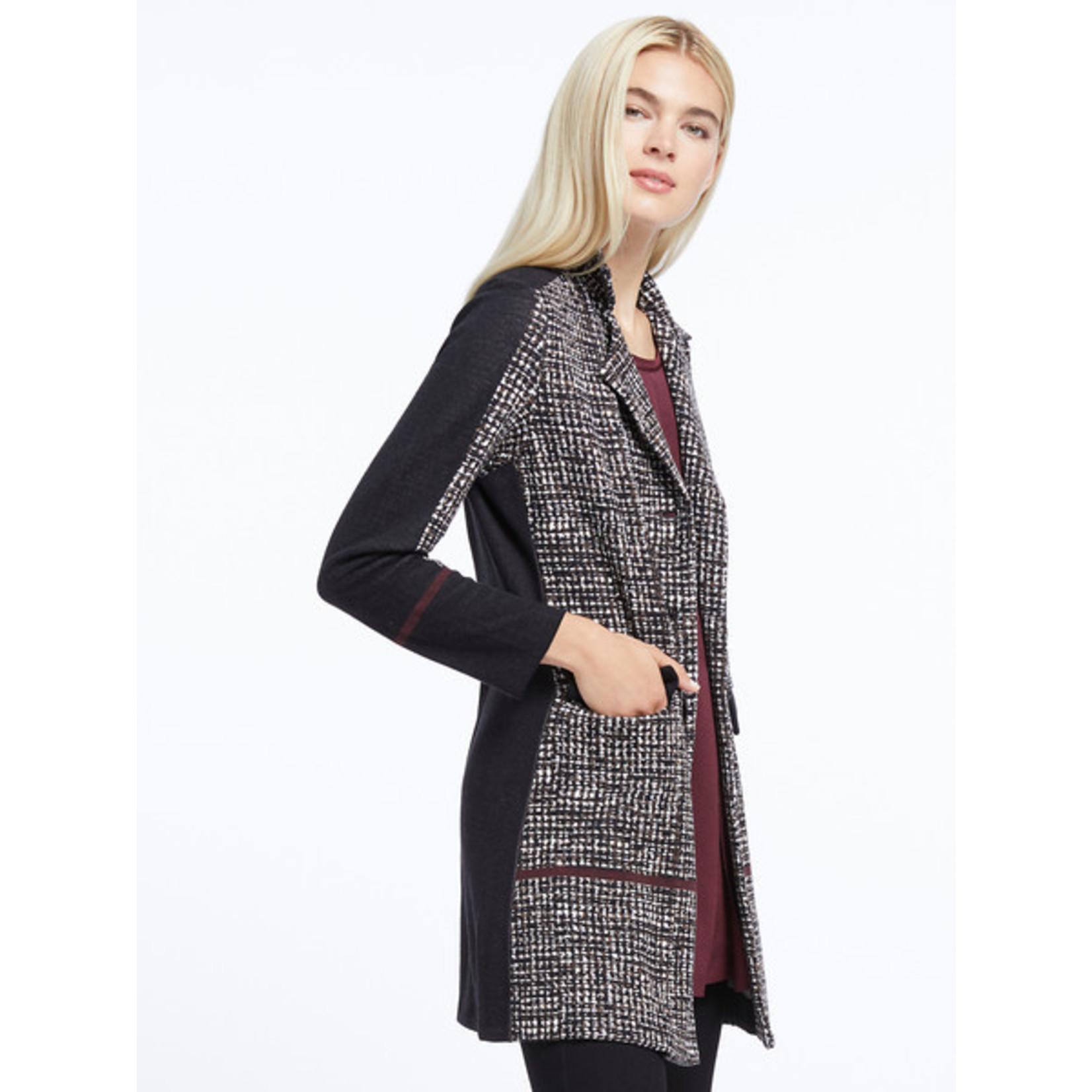 Nic+Zoe Abstract Multi Tweed Jacket