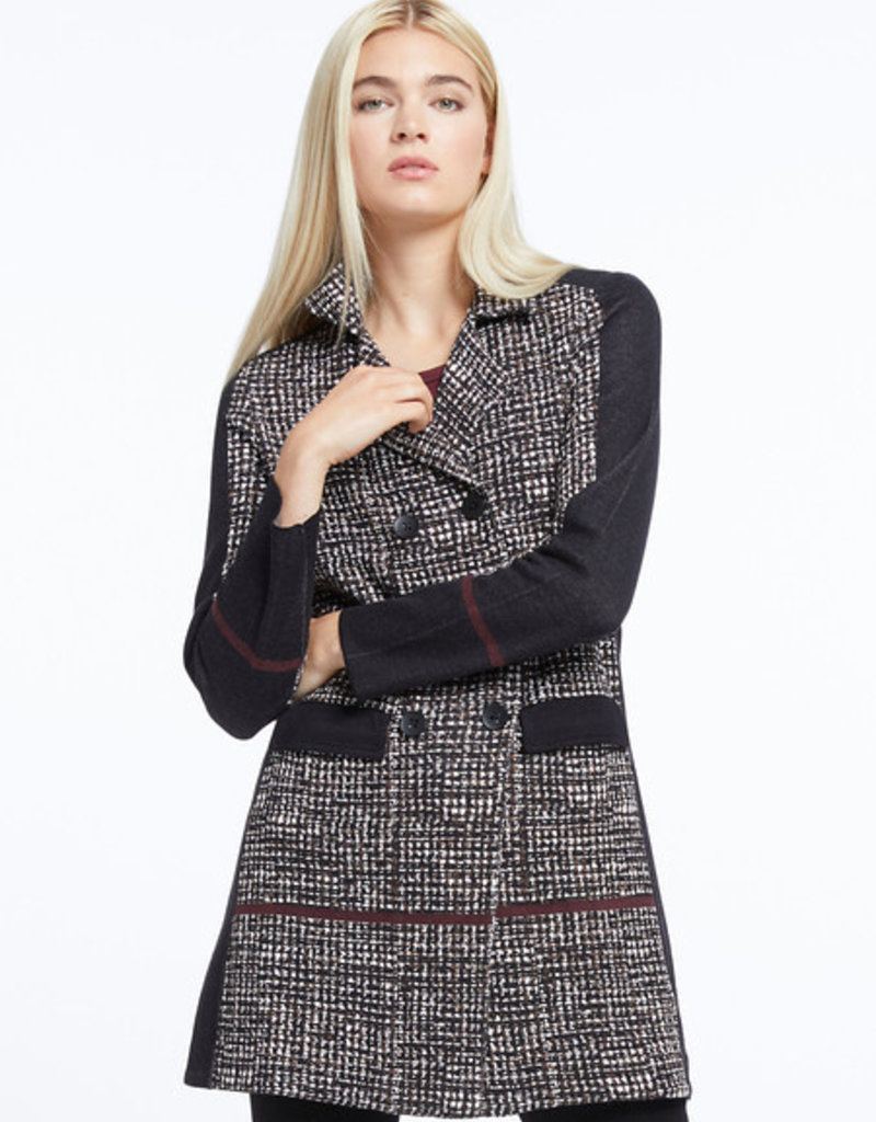 Nic+Zoe Abstract Multi Tweed Jacket