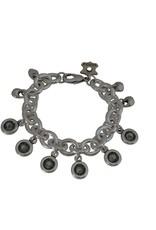 Bracelet/Fortune/Crystal Dangles/Blk Diamond
