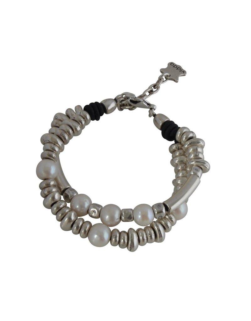 Bracelet/Pine/CulturedPearls/SilvBeads