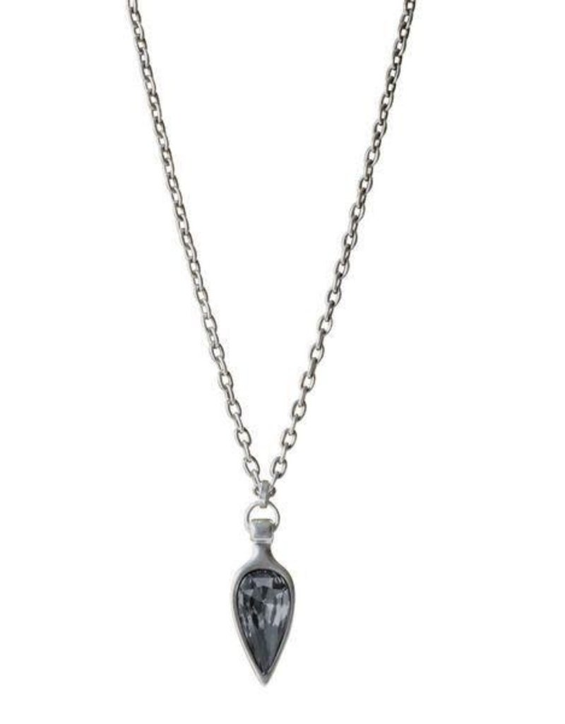 Necklace/Hera/Silver Night Crystal