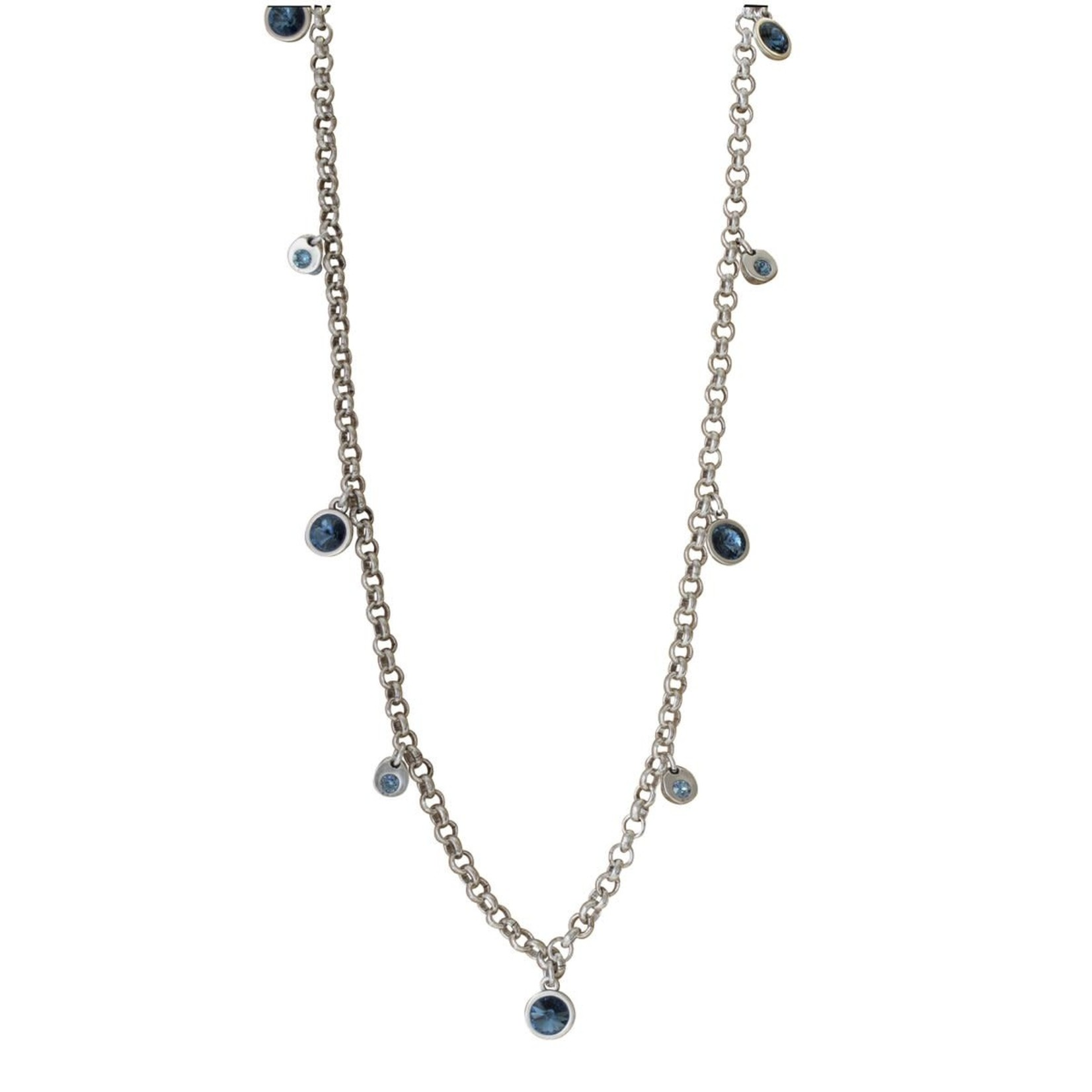 Necklace/Deva/Denim Blue Crystals/Long