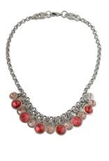 Necklace/Aruna/Padparadscha Crystal Drops