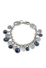 Bracelet/Roahna/Denim Blue Cryst/Silver