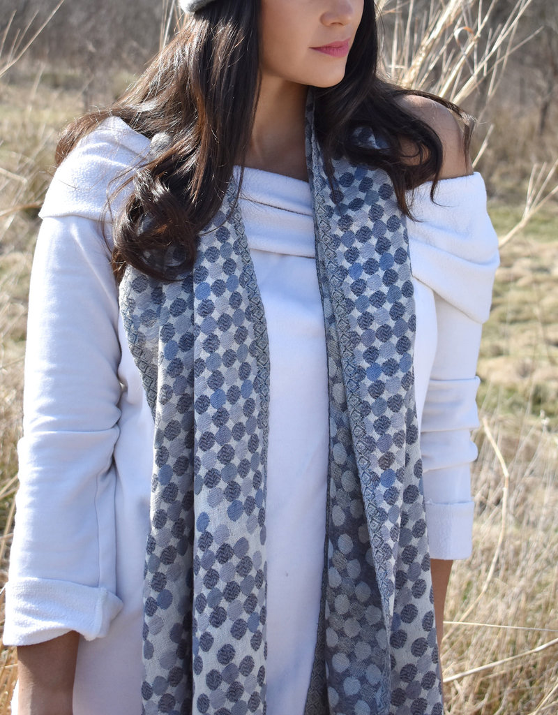Highspire Cotton Wool Blend Dots Scarf
