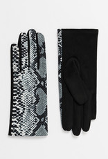 Pia Rossini Gloves/Shay/Snake Jersey & Faux Suede