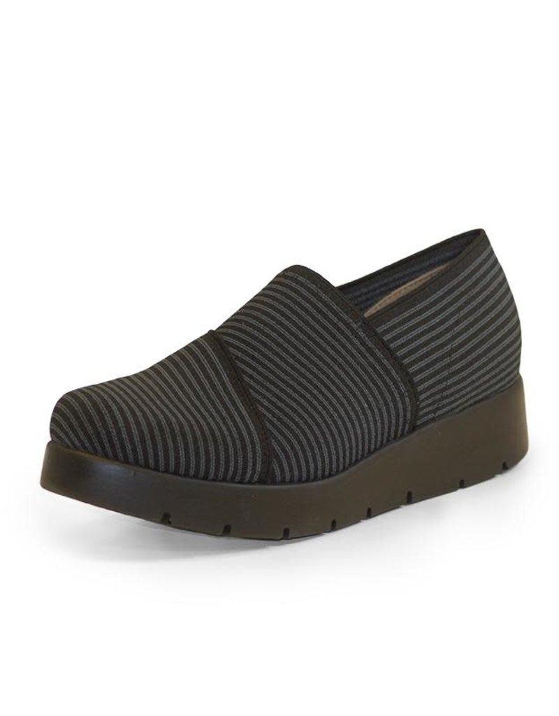 Shoe/MillyGrayPinStripePltFrm