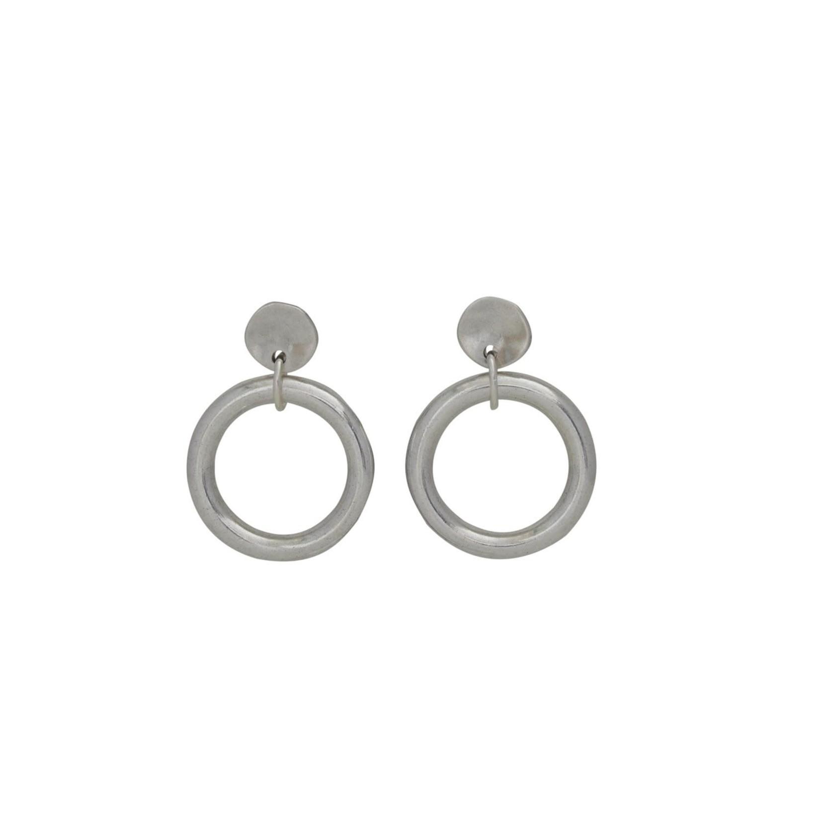 Earrings/Cherokee Silver Ring on Post