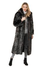 Coat/HoodedFullLengthFauxFur