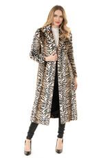 Backstage Maxi Faux Fur Tiger Coat