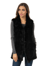 Vest/Faux Fur Knitted