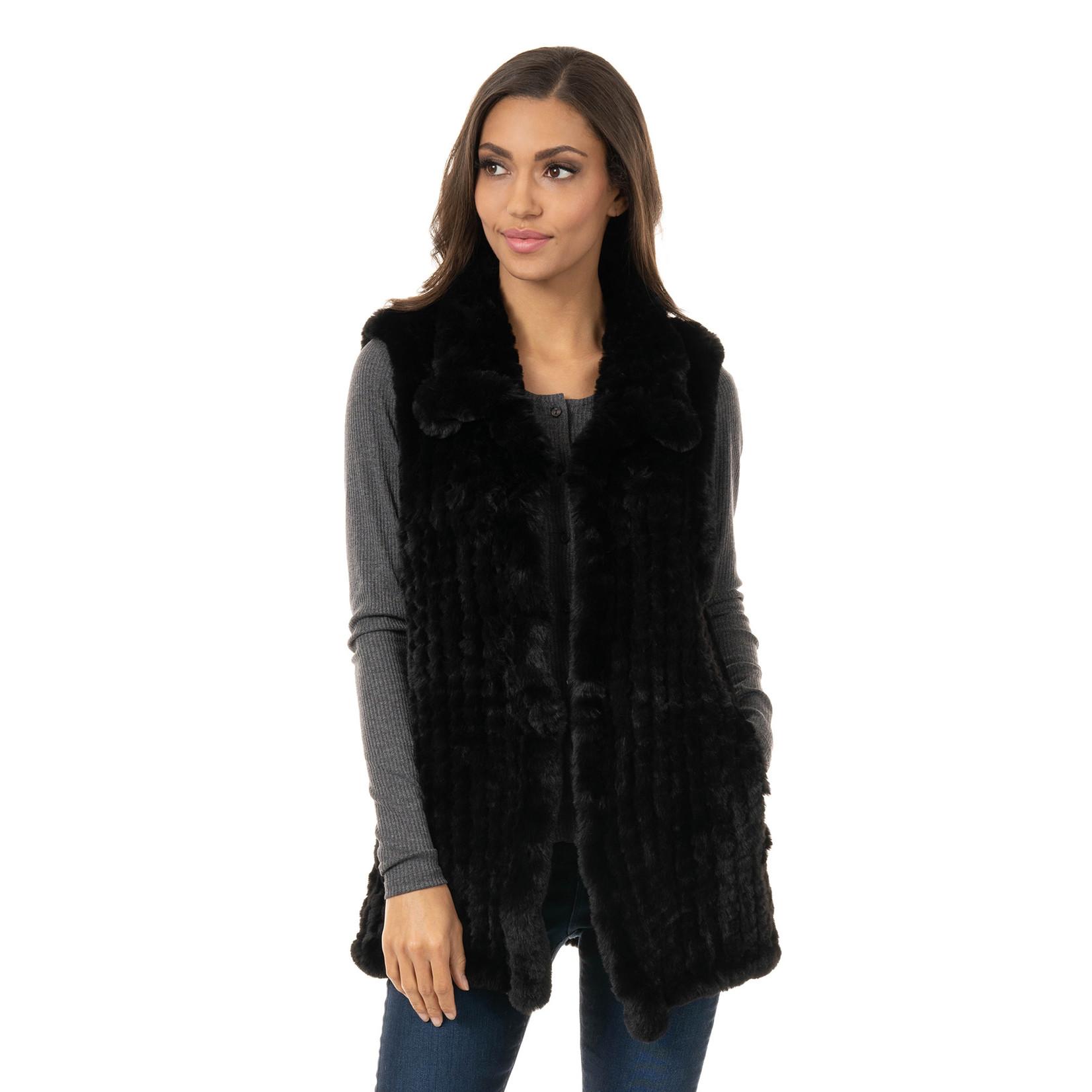 Fabulous Furs Vest/Faux Fur Knitted