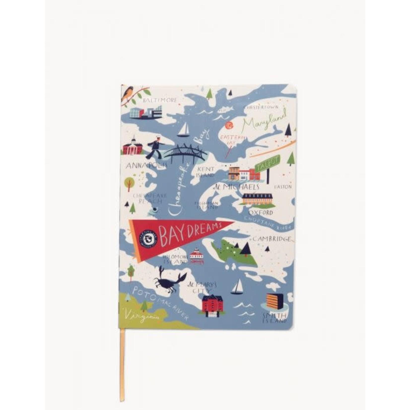Spartina Bay Dreams Ruled Notebook