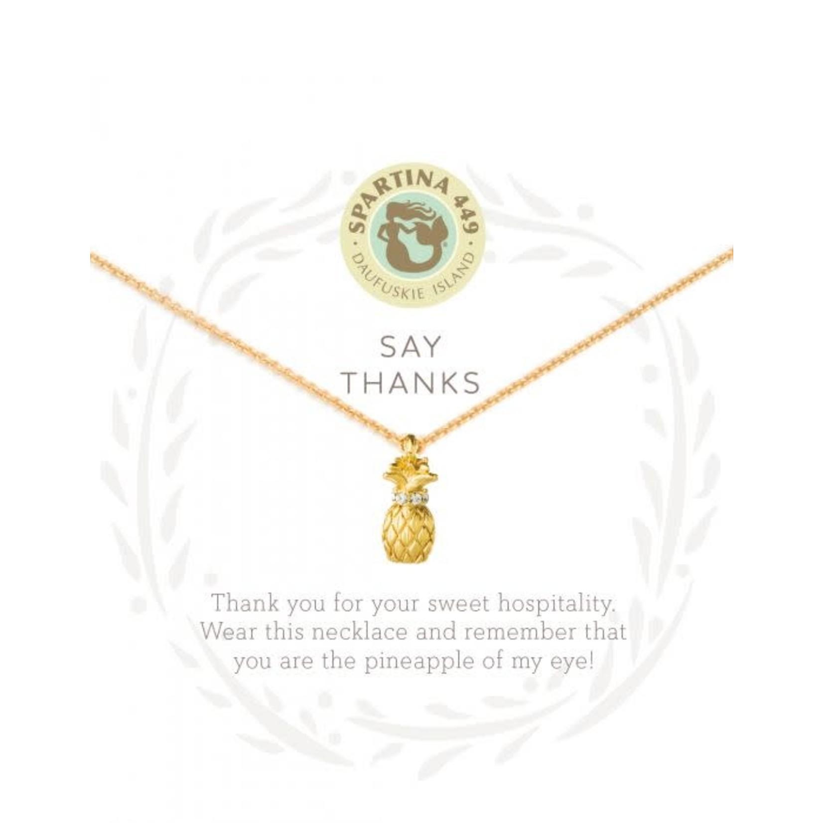 "Spartina Necklace/Thanks Pineapple Sea La Vie 18"""