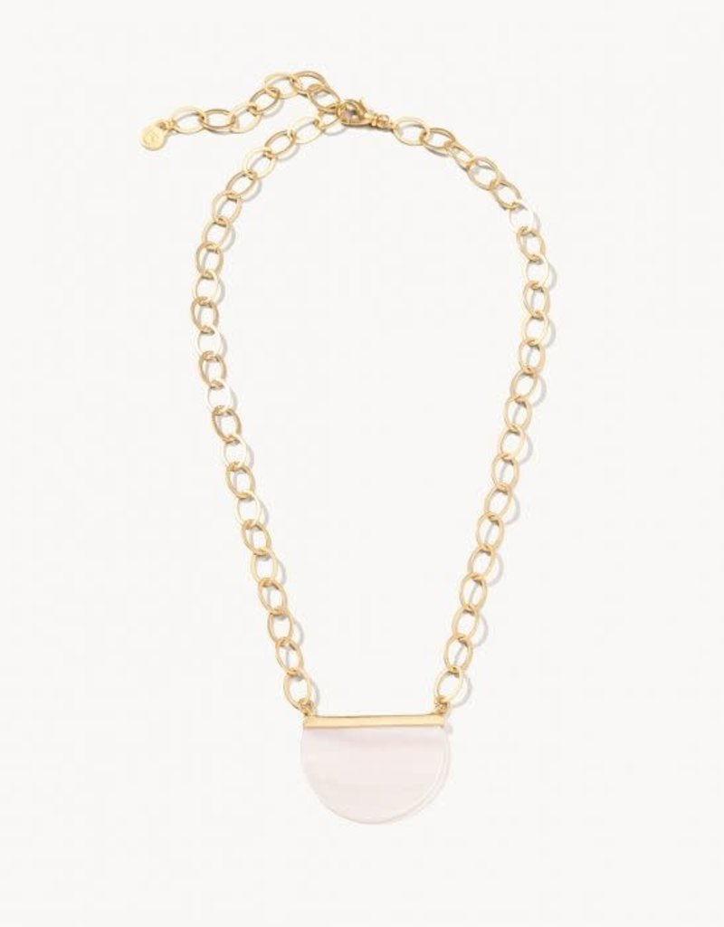 "Spartina 65783 Necklace/Pretty Petal 19"" Gold Pearlescent"