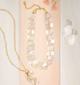 """Spartina 65780 Necklace/Scale Shimmer 32"""" Pearl"""