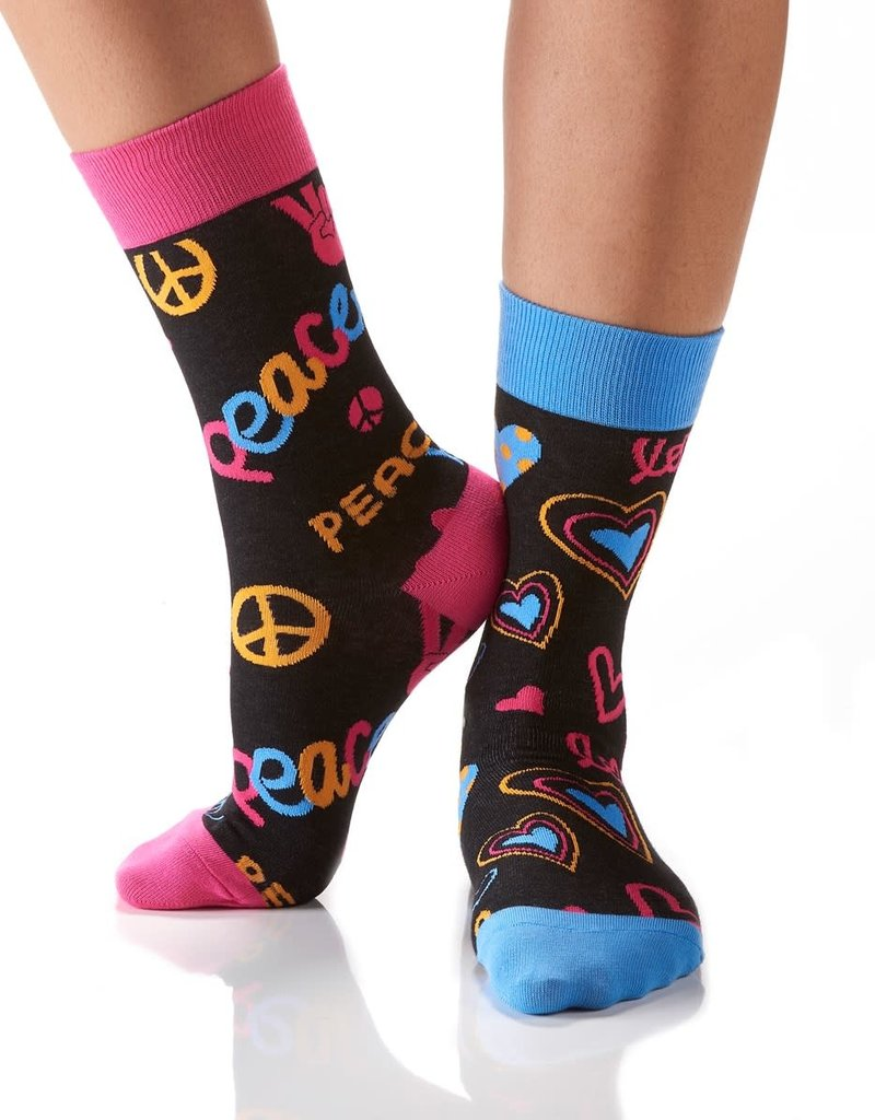 Peace And Love Women's Crew Socks