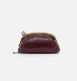 HOBO Bliss Deep Plum Leather Pouch