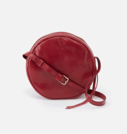 HOBO Groove Round Logan Berry Vintage Hide Crossbody Bag