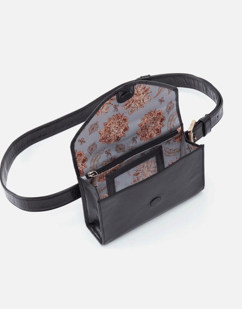 HOBO Forte Black Vintage Hide Leather Crossbody/FannyPk
