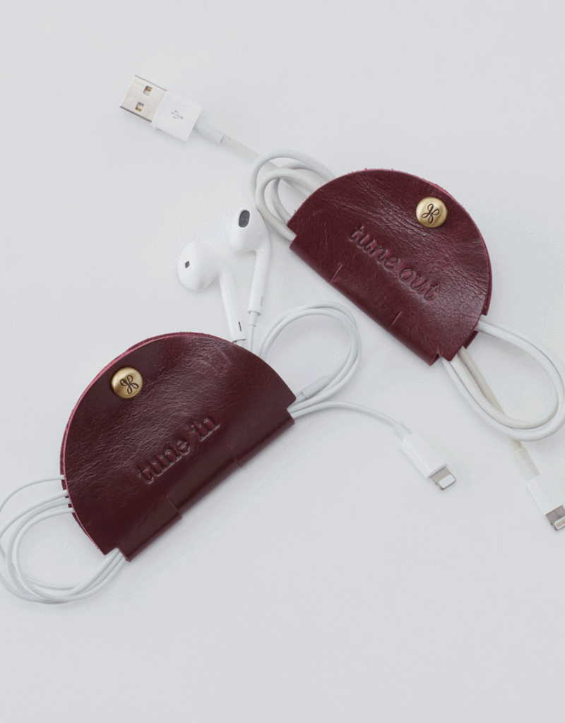 HOBO Tune Earbud Holder Leather w/Snap
