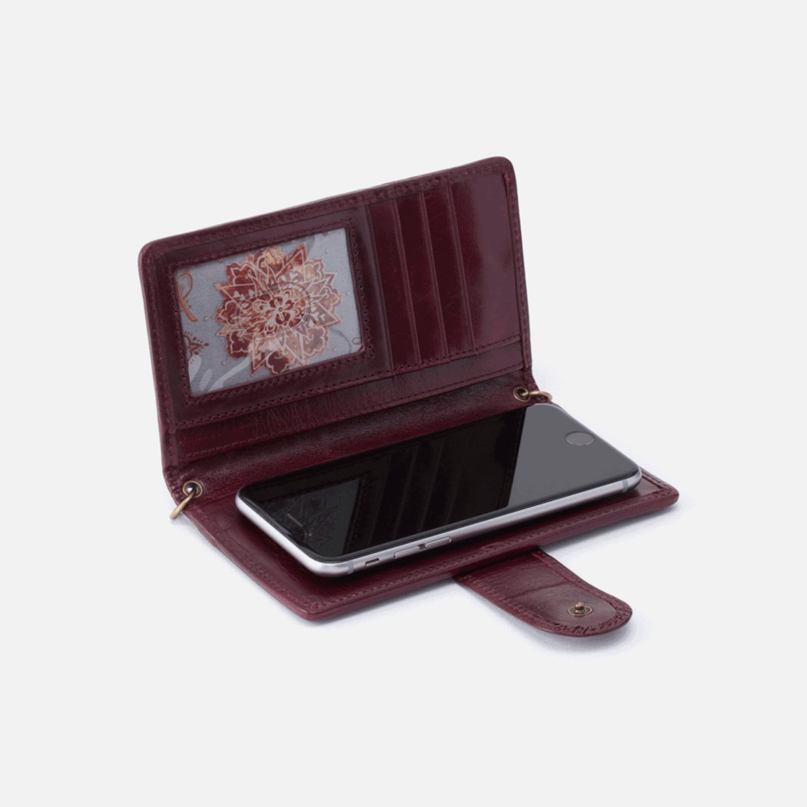 HOBO Apollo Deep Plum Vintage Leather Crossbody/Wallet