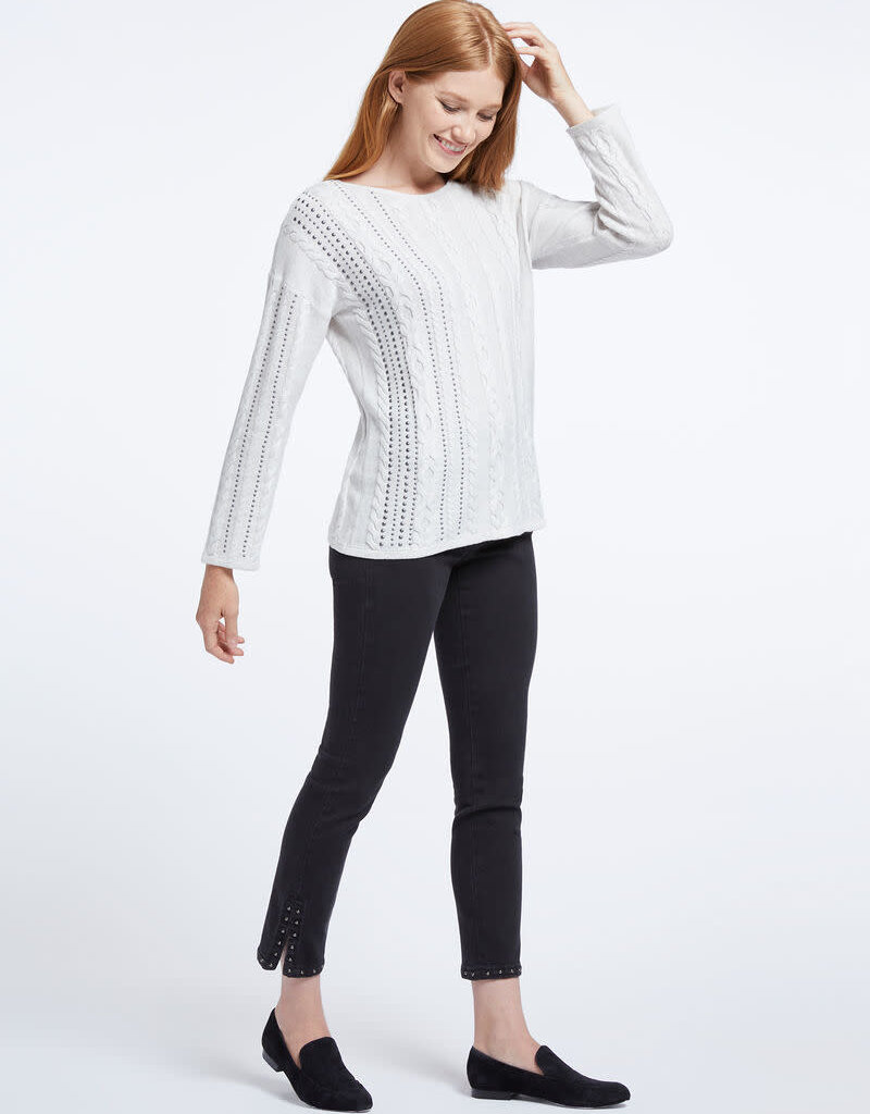 Nic+Zoe Sweater/CableStud/Silver