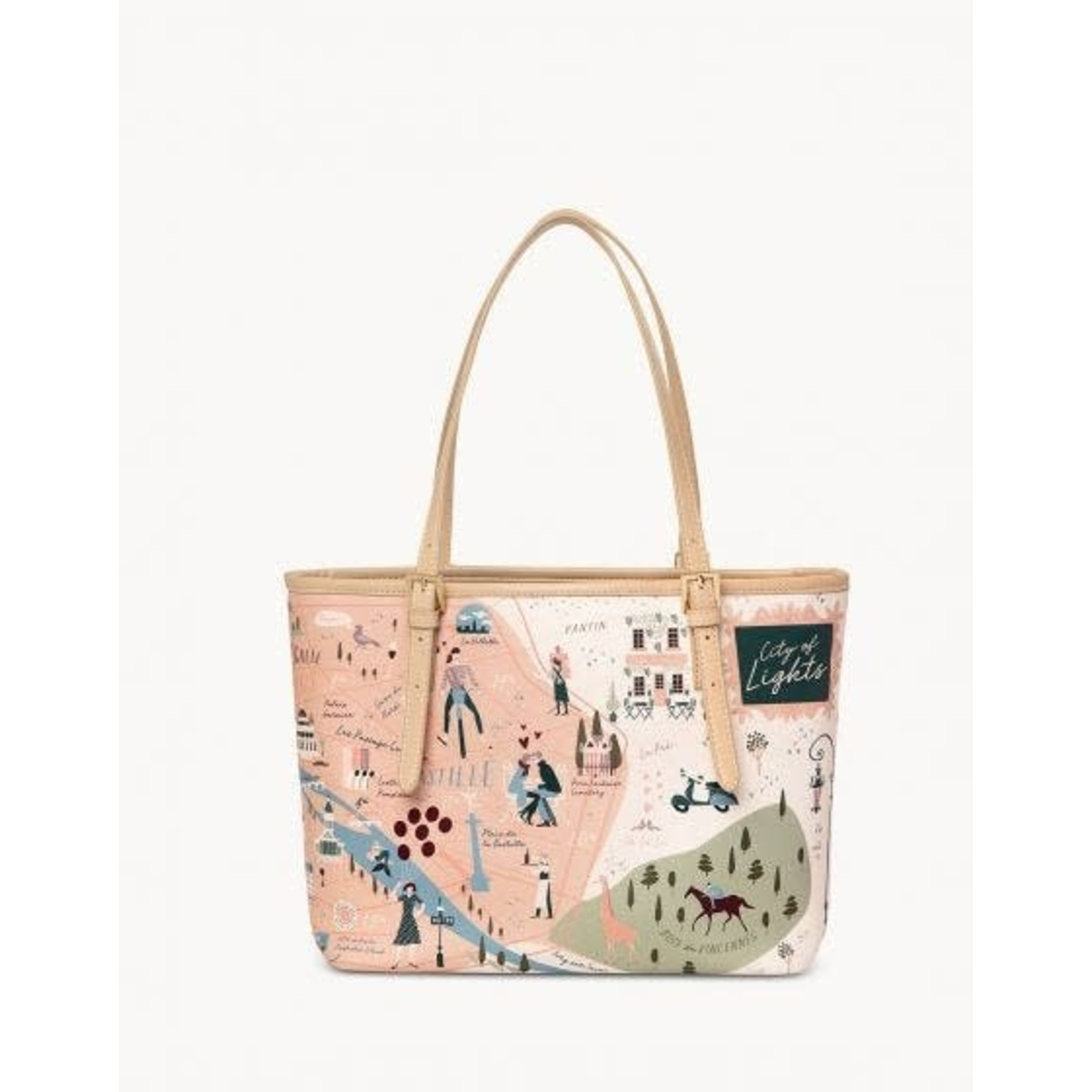 Spartina Paris Small Tote w/Zipper