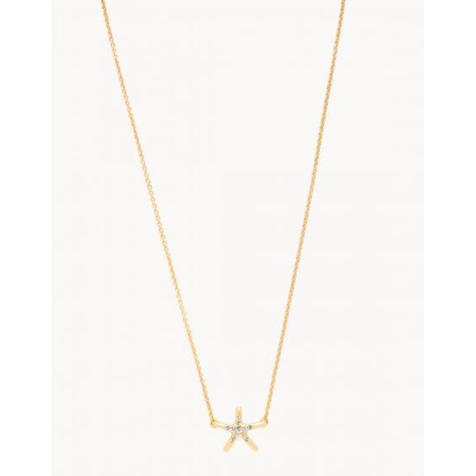 """Spartina Sea La Vie Necklace 18"""" Shine/Starfish"""
