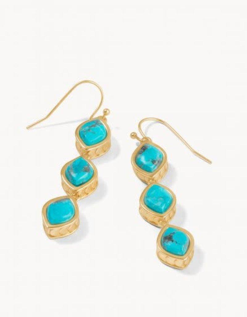 Spartina Earrings/Naia Linear Drop/Turq