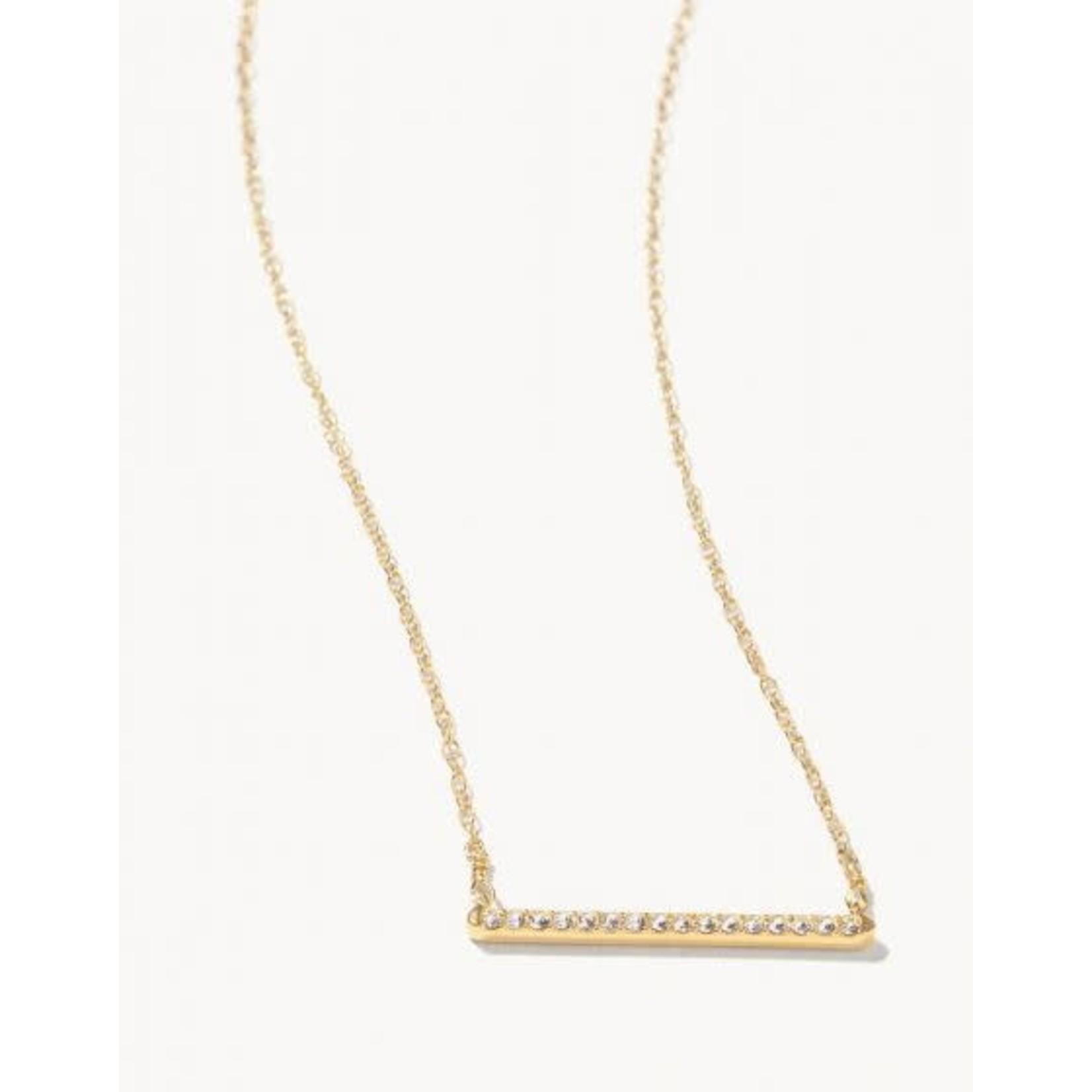 """Spartina Necklace/Horizon 16"""" Crystal"""