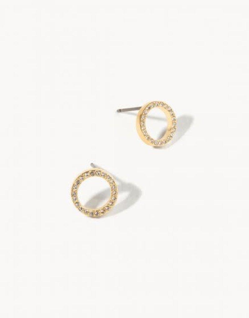 Spartina Earrings/Eternity Stud/Crystal