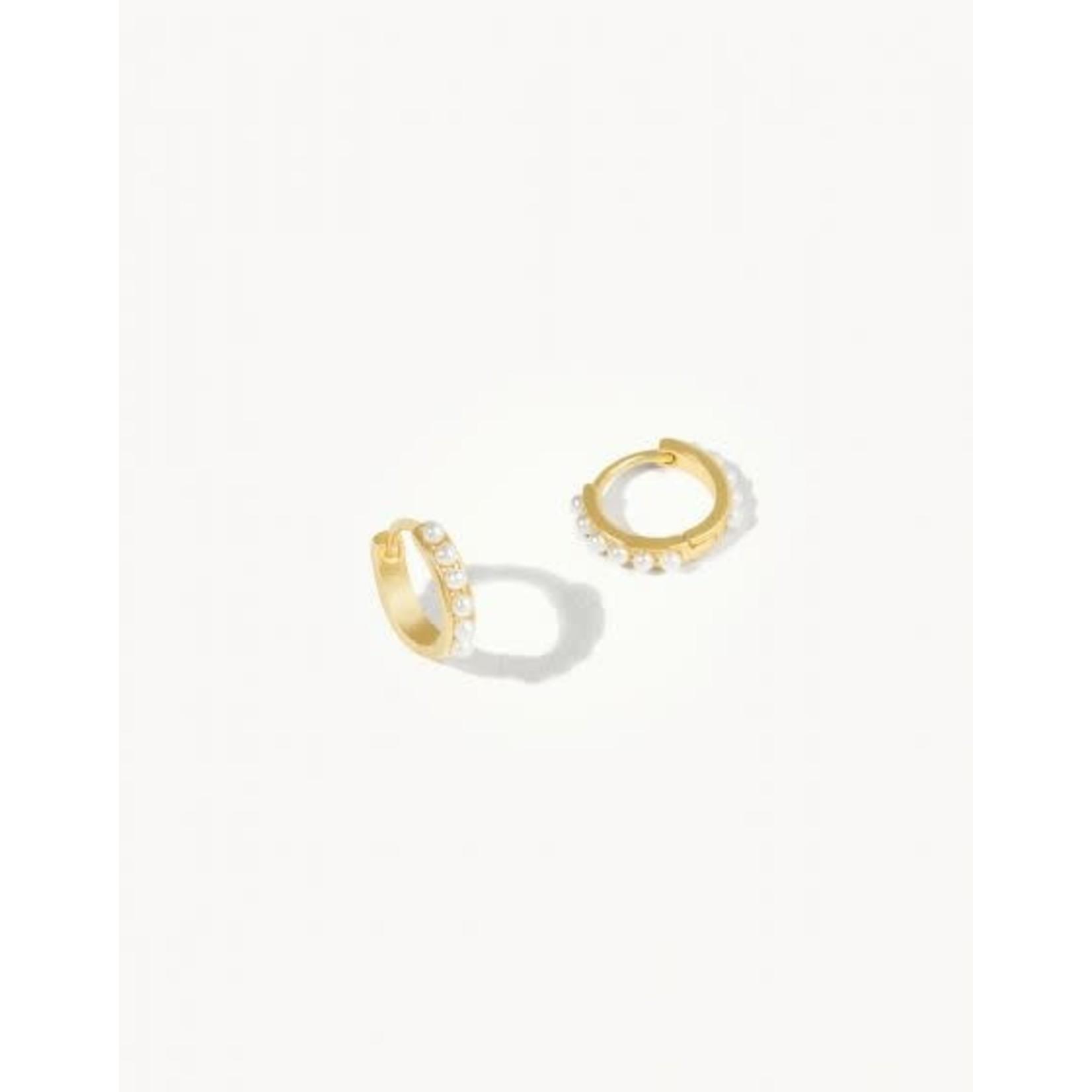 Spartina Earrings/Huggie Hoop/Pearl