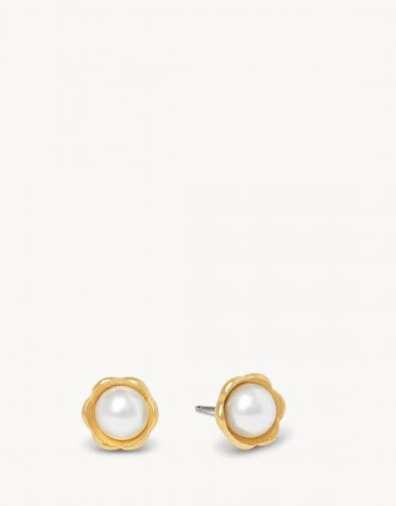 Spartina Earrings/Cup Flower Stud/Pearl