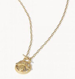 """Spartina Necklace/Sticky Bee Toggle 18"""" Gold"""