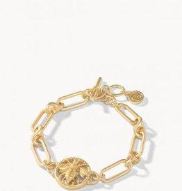 Spartina Bracelet/Sticky Bee Toggle Gold