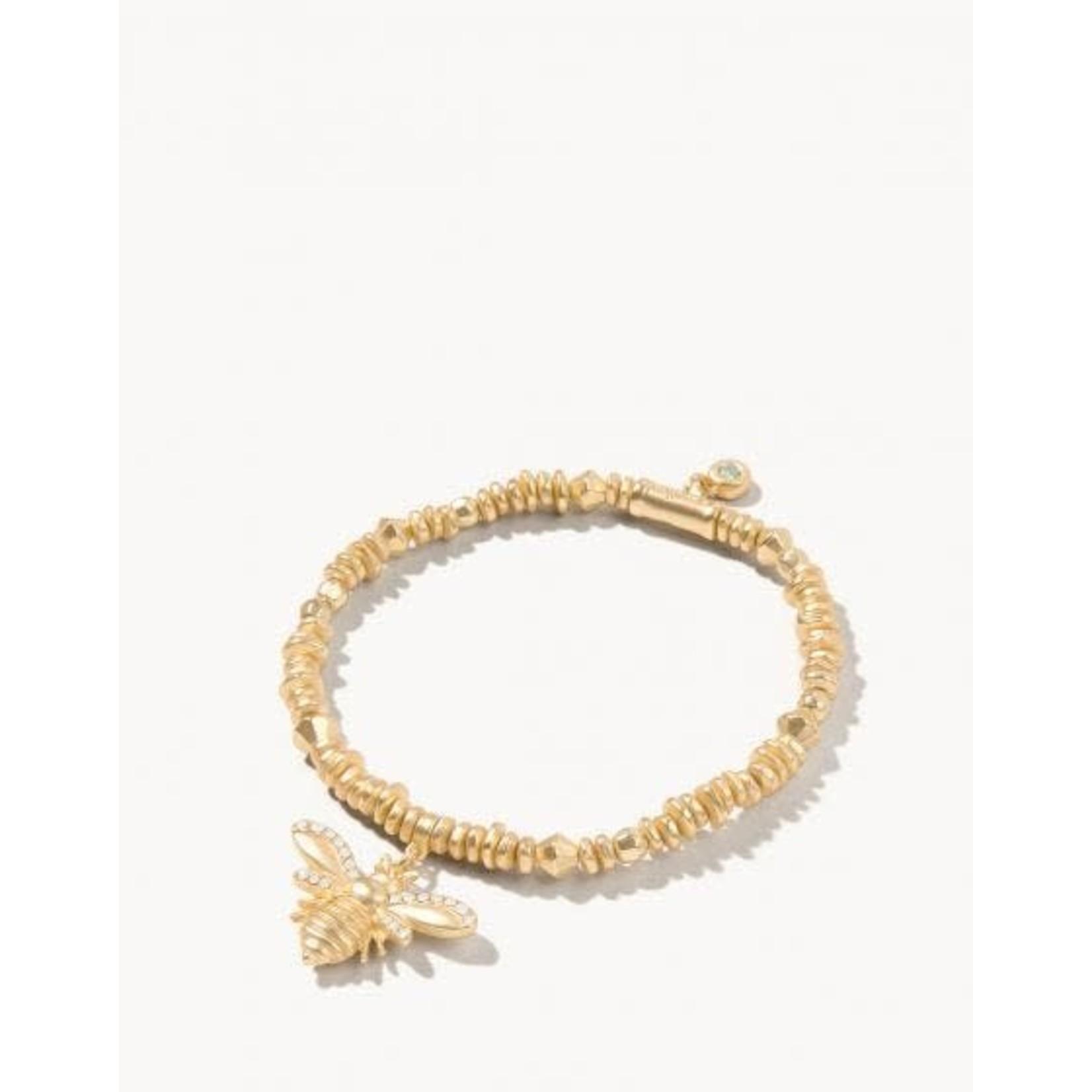 Spartina Bracelet/Stretch 4mm Gold/Bee