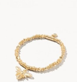 Spartina Bracelet/Stretch 4mm Gold/Bee