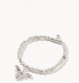 Spartina Bracelet/Stretch 4mm Silver/Bee