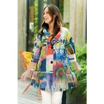 Damee Sheer Abstract Water Color Jacket