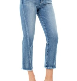 "Liverpool Pant/Crop Straight Twisted Front Side Seam 26"" Damask Denim"