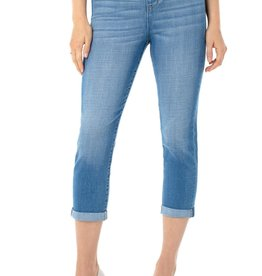"Liverpool Pant/Chloe Crop Rolled Cuff 23""/25"" Beaumont Blue"