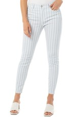 "Liverpool Pant/Abby Crop Skinny 26"" Dot Strip White"