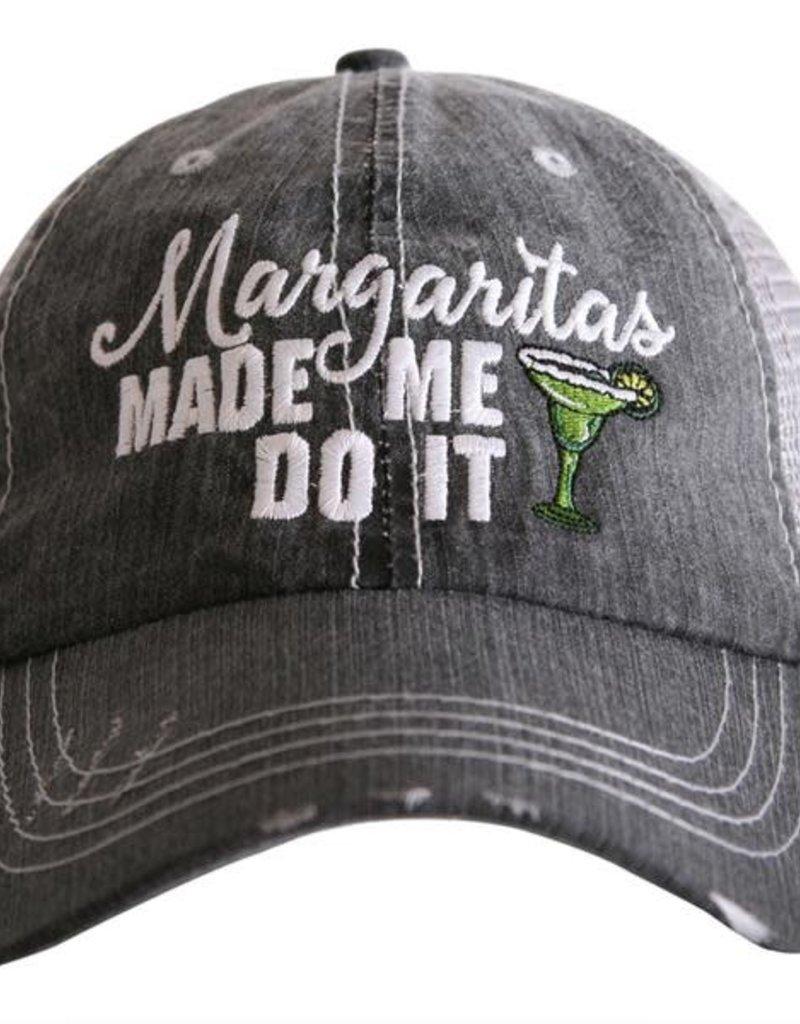 Margaritas Made Me Do It Truckers Cap